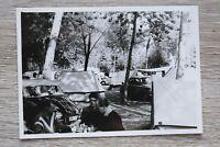 1x Foto Auto Oldtimer DKW Auto Union 1950-60er Urlaub Classic Car Camping Platz