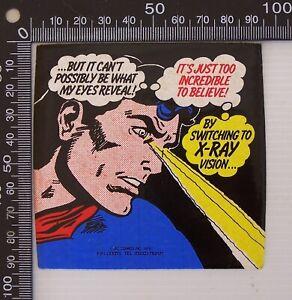 VINTAGE 1978 DC COMICS INC SUPERMAN SOUVENIR VINYL PROMOTIONAL STICKER DECAL