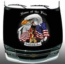 Soldier Freedom Home of Brave Hood Wrap Sticker Vinyl Decal Graphic