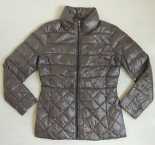 Ralph Lauren Equestrian Leather Patch Buckle-Belt Down Puffer Quilted Jacket S