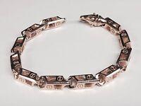 """14k Solid ROSE Gold Handmade Link Men's Chain Bracelet 10"""" 63 grams 6.5MM"""