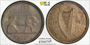 Ireland silver Shilling 1935 toned about uncirculated PCGS AU58