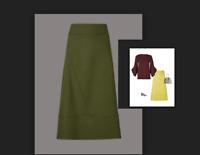 M&S AUTOGRAPH Cotton Rich A-Line Midi Skirt