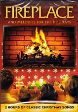 FIREPLACE & MELODIES FOR THE HOLIDAYS: VIRTUAL CHRISTMAS DVD with CLASSIC SONGS!