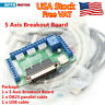 【In USA】5 Axis LPT Mach3 CNC Breakout Board Stepper Motor Driver Controller Card