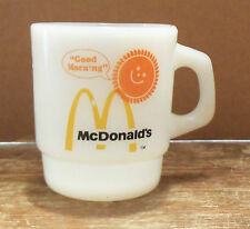 FIRE KING Vintage McDonald's Sunshine Good Morning Coffee Cup Mug! Golden Arches