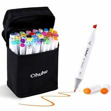 Ohuhu 40 Colours Permanent Marker Pens Art Kids Highlighter Drawing Coloring
