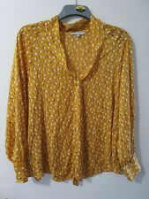 Red Herring Yellow Spotted Blouse Size 16