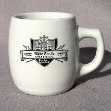 White Castle Coffee Cup Mug Restaurant Ware Mayer China Ashtray Bottom Vintage