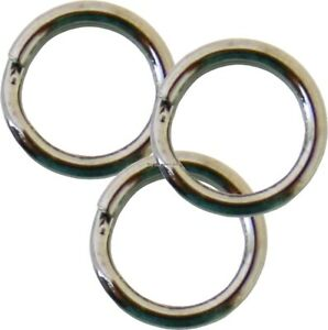 Owner Heavy Duty Stainless Steel Hyper Wire Split Ring #3 45 lb 14/Pack 5196-031