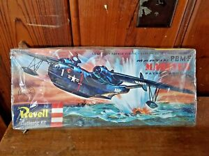 VINTAGE PLASTIC KIT REVELL 1:72 MARTIN PBM-5 MARINER COMPLETE WITH DECALS