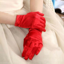 Ladies Short Satin Gloves Opera Party Costume Wedding Bridal Prom Women's Fancy