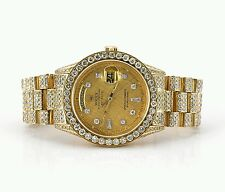Rolex President Watch Fully Iced Out with 19 Carat Diamonds Video Best Price
