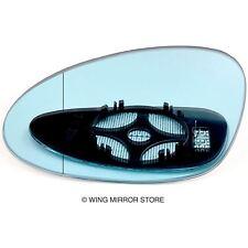 Left side for Porsche 928, 968 91-95 Wide Angle heat Blue wing door mirror glass