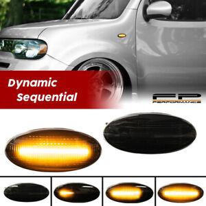 For Nissan Juke/Leaf/Cube Smoked Sequential LED Side Marker Signal Fender Lights