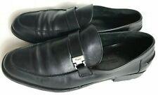 Salvatore Ferragamo Mans Black leather horse bit drivers Loafer Sz 10.5
