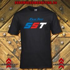 Sno-Jet vintage snowmobile style black t-shirt with SST image