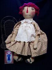 Pattern, Primitive,raggedy Annie,16 in. folk art,doll, Dumplinragamuffin #Po10