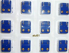 PK OF 12 MINI CAFLON  EAR-PIERCING STUDS GOLD/SILVER PLATED/BIRTHSTONE COLOURS
