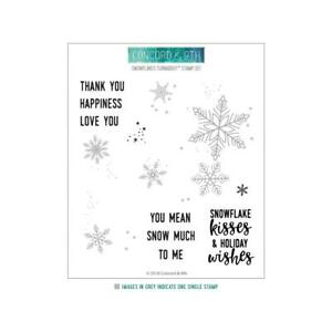"""NEW Concord & 9th """"SNOWFLAKES TURNABOUT"""" 6"""" x 6"""" Stamp"""