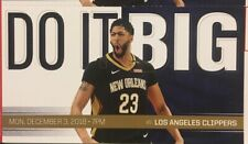 New Orleans Pelicans vs Los Angeles Clippers Ticket Stub 12/3/18