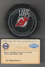 Martin Brodeur Autograph Puck Steiner Authentication 3x Stanley Cup Champion HOF