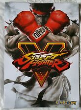 STREET FIGHTER 5 (V) VIDEOGAME SUPERB DOUBLE-SIDED PROMO POSTER brand new !!