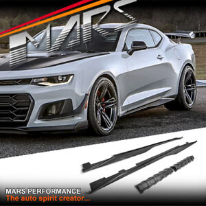 ZL1 1LE Style Side Skirts Lip Spoiler Cover for Chevrolet Camaro 2016-21 Bodykit