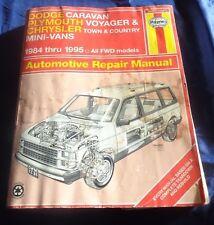 RP2505 Haynes Chrysler Caravan Voyager Town & Country Mini Vans 1984-1995 Manual