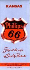 1957 Phillips 66 Road Map: Kansas NOS