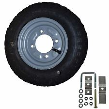 More details for spare wheel & tyre with mounting bracket for erde & daxara 100 101 102 trailer