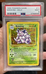 Nidoking Holo Base Set Mint 9 PSA Pokemon #11