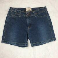 Levi Strauss Signature Women Blue Jean Shorts Misses Size 10 Stretch Denim P3