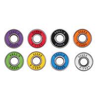 8 Pack Abec-9 Skateboard Bearings, 8mm 608rs, longboard/inline/hockey/roller