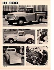 1963 INTERNATIONL HARVESTER 900 PICKUP ~ ORIG 3-PAGE ROAD TEST / ARTICLE / AD