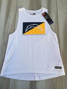 Under Armour Womens NFL L.A. Chargers Tank Top Loose White XS Combine Authentic