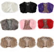 Womens Wedding Bridal Party Faux Fur Wrap / Jacket / Shawl / Bolero / Shrug Coat
