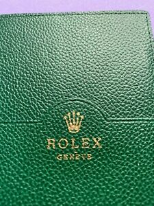 ROLEX ORIGINAL LEATHER CARD HOLDER - green