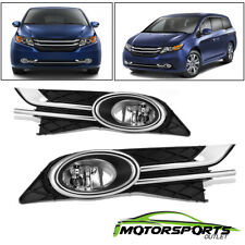 Fit 2014 2015 2016 Honda Odyssey Bumper Fog Lights+Switch+Bracket+Wiring Harness