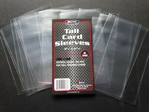 20 Loose Sleeves BCW Tall Card Sleeves 2 5/8 X 4 13/16 For Tall Trading Cards