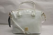 Dooney & Bourke Patent Leather Domed Satchel WHITE RTL$298