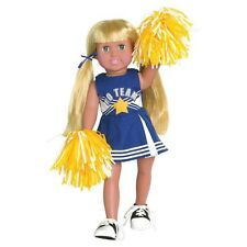"Doll Clothes Fit AG 18"" Blue Cheerleader Springfield Made For American Girl Doll"
