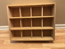 Napa Valley Box Company 144 CD Natural Wood Storage Case Display Holder Rack