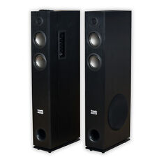 Acoustic Audio TSi400 Bluetooth Powered Floorstanding Tower Home Speaker Pair