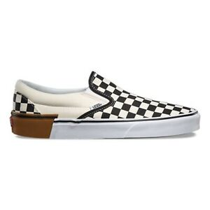 VANS chequered vans size 8 GUM BLOCK SLIP-ON Brand New SOLD OUT