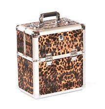 Urbanity nail polish storage case beauty cosmetic makeup box hard vanity Leopard