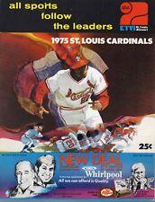 1975 Baseball program New York Mets @ St. Louis Cardinals, partly scored ~ Fair