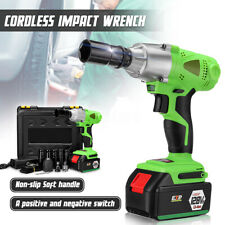16800mAh 1/2'' Electric Brushless Cordless Impact Wrench Drill W/Battery+Sockets