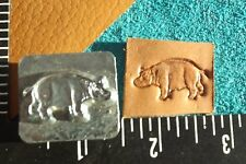 """Leather Tools/*Vtg*Craftool Co Usa 1"""" Stamp*#8468 Hippo* ( 08-y)"""