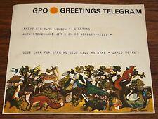 JAMES ROYAL ORIGINAL 1968 TELEGRAM  TO ALEX STRICKLAND WEMBLEY RECORD SHOP